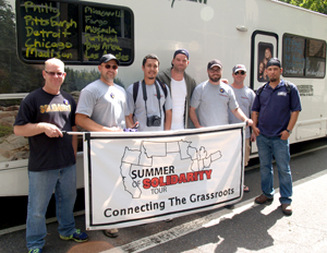 "A group of Steelworkers union activists —on a nationwide ""Summer of Solidarity"" tour — stopped in Portland Aug. 28 and rallied with workers who are getting ready to strike at seven state universities."
